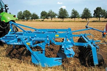Intensive cultivator on the field